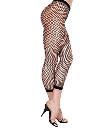 8fb394359a2c1 Image Unavailable. Image not available for. Color: Womens Black Footless Fishnet  Tights - Footless Stockings ...