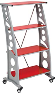 Pitstop Furniture WS5000R Red Chicane Bookshelf