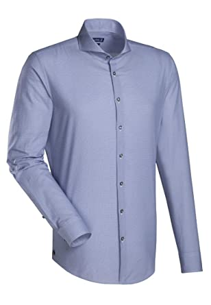 d706c50592973 Jacques Britt Men s Formal Shirt blue blue 13 UK  Amazon.co.uk  Clothing