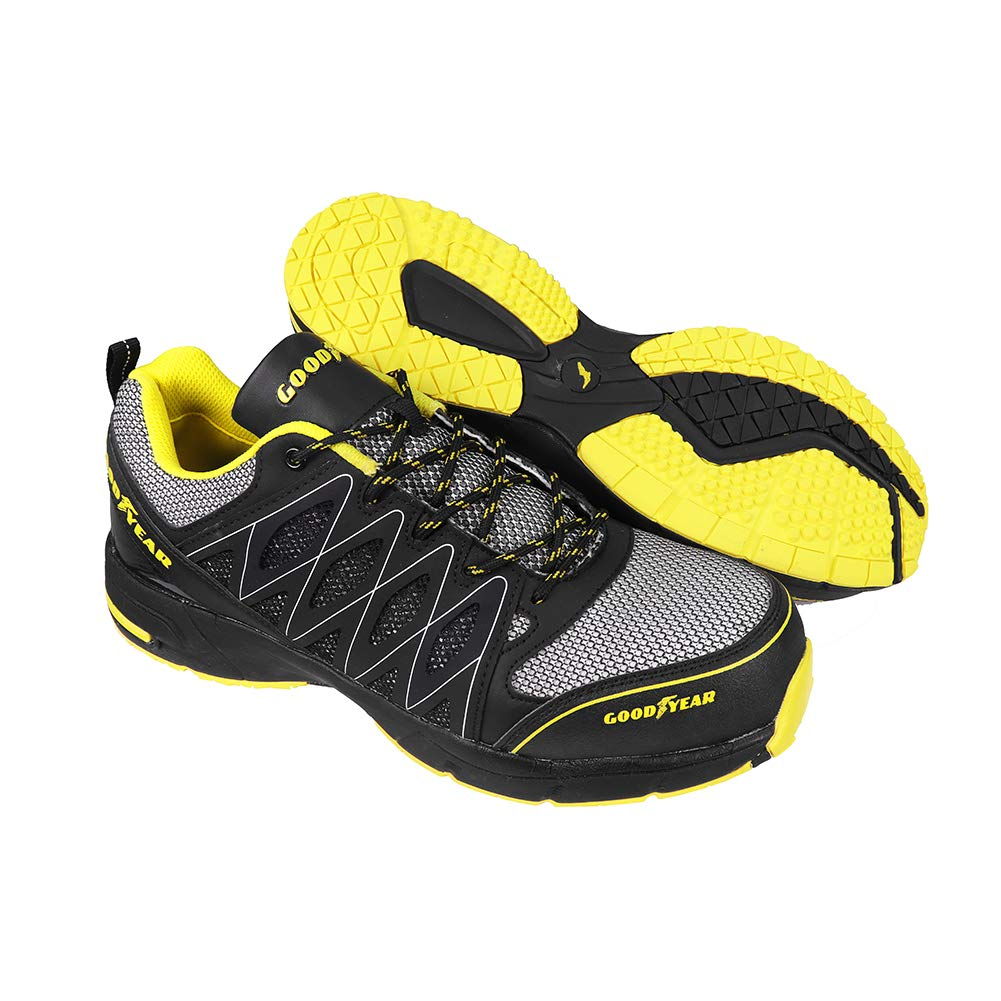 Goodyear GYSHU1502, Zapatillas de Seguridad para Hombre, Negro (Black/Yellow), 46 EU