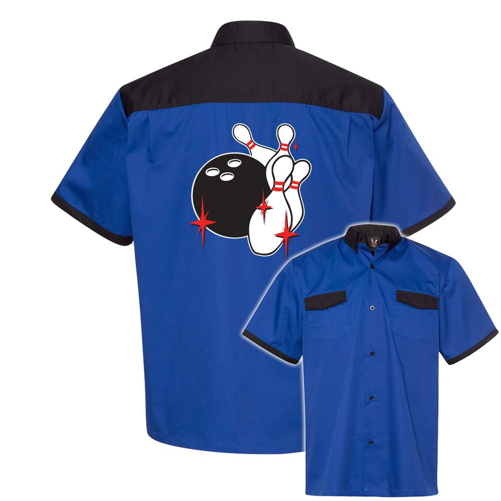 Pin Splash C Stock Print on Anchor Man Bowling Shirt by Cruisin' USA