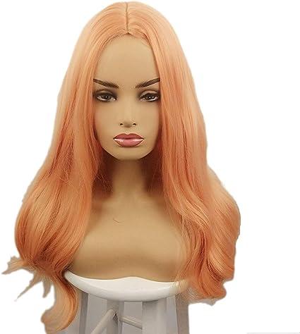 Peluca de Arimika Wig de 60 cm de largo, pelo sintético ondulado a ...