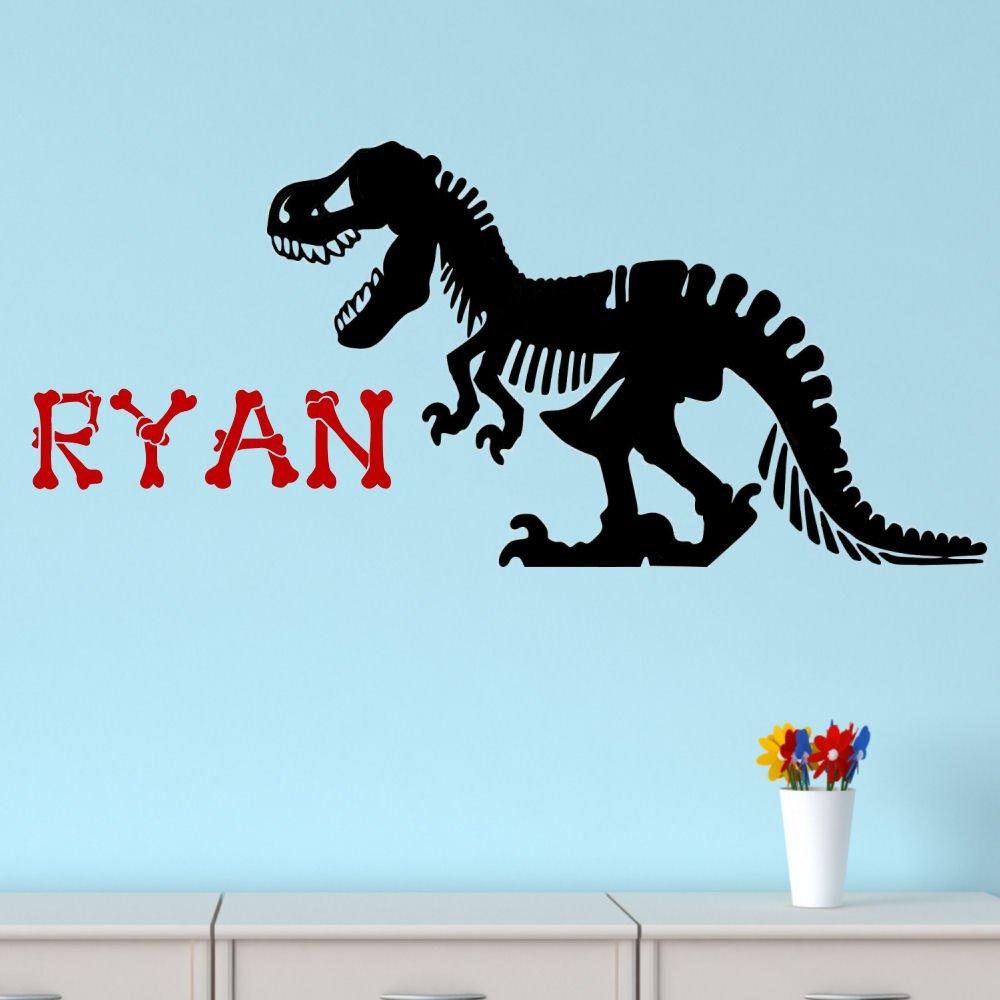 Genial Amazon.com: Dinosaur Wall Decal Dinosaur Bones Personalized Vinyl Wall Decal  T Rex: Home U0026 Kitchen