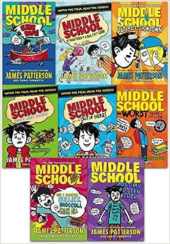 James Patterson Middle School Collection 8 Books Set Middle School