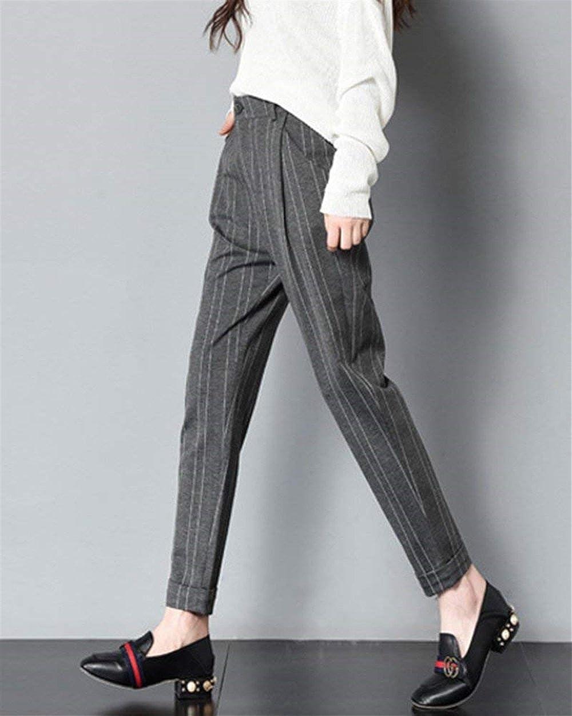 b95ad8cf0f80 Emmala Eté Printemps Femme Mode Pantalon Longues Fit Slim Elégante  Confortable Manche Élastique Taille Chic Poches Uni ...