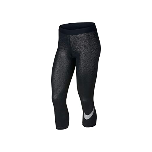 1543cbf9369d Image Unavailable. Image not available for. Color  NIKE Womens Pro Metallic  Fitness Athletic Leggings Silver M