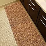 Soft Foam Runner Mat BEIGE RUSTIC Kitchen Bathroom Pool Boat Hallway | 26-inch x 18-feet (2×18) Review