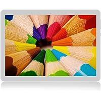 Tableta Android 7.0 10 Pulgadas con 4GB de Memoria ROM de 64 GB incorporada Cámara WiFi GPS Dos Ranuras para Tarjetas SIM para desbloquear la Tableta del teléfono 3G (Blanco)