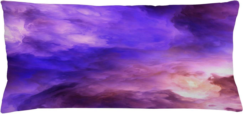 Amazon Com Lunarable Purple Throw Pillow Cushion Cover Surreal Storm Clouds In Divine Color Sky Mystical Atmospheric Cosmos Universe Decorative Rectangle Accent Pillow Case 36 X 16 Violet Home Kitchen