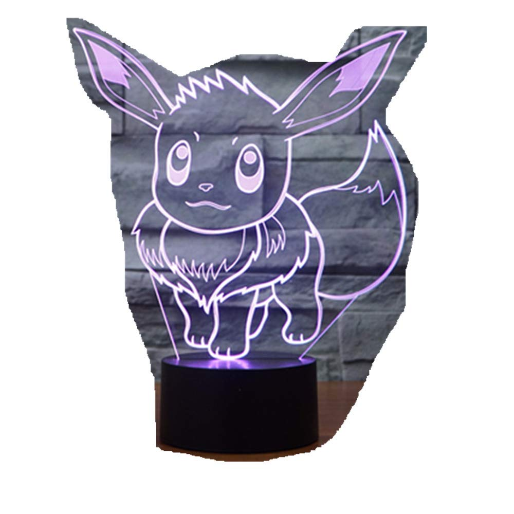 Pokemon Cards Ibrahimovic 3D Lights/Colorful Touch Lampara ...