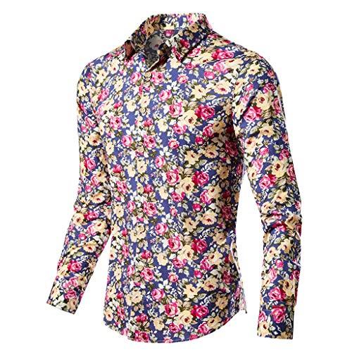 (Men Business Dress Shirt, Colmkley Slim Fit Long Sleeve Casual Lapel Button Tops)