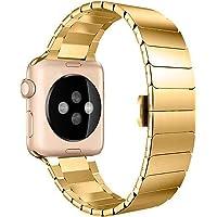 Pulseira Aço Inoxidável Elos Fecho Borboleta, Compatível com Apple Watch
