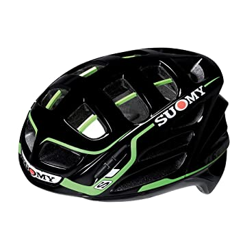 SUOMY Casco para Moto Integral SR, Multicolor (Black/Green), XL