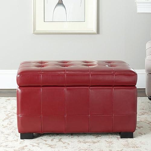 Safavieh Hudson Collection Nolita Leather Small Storage Bench