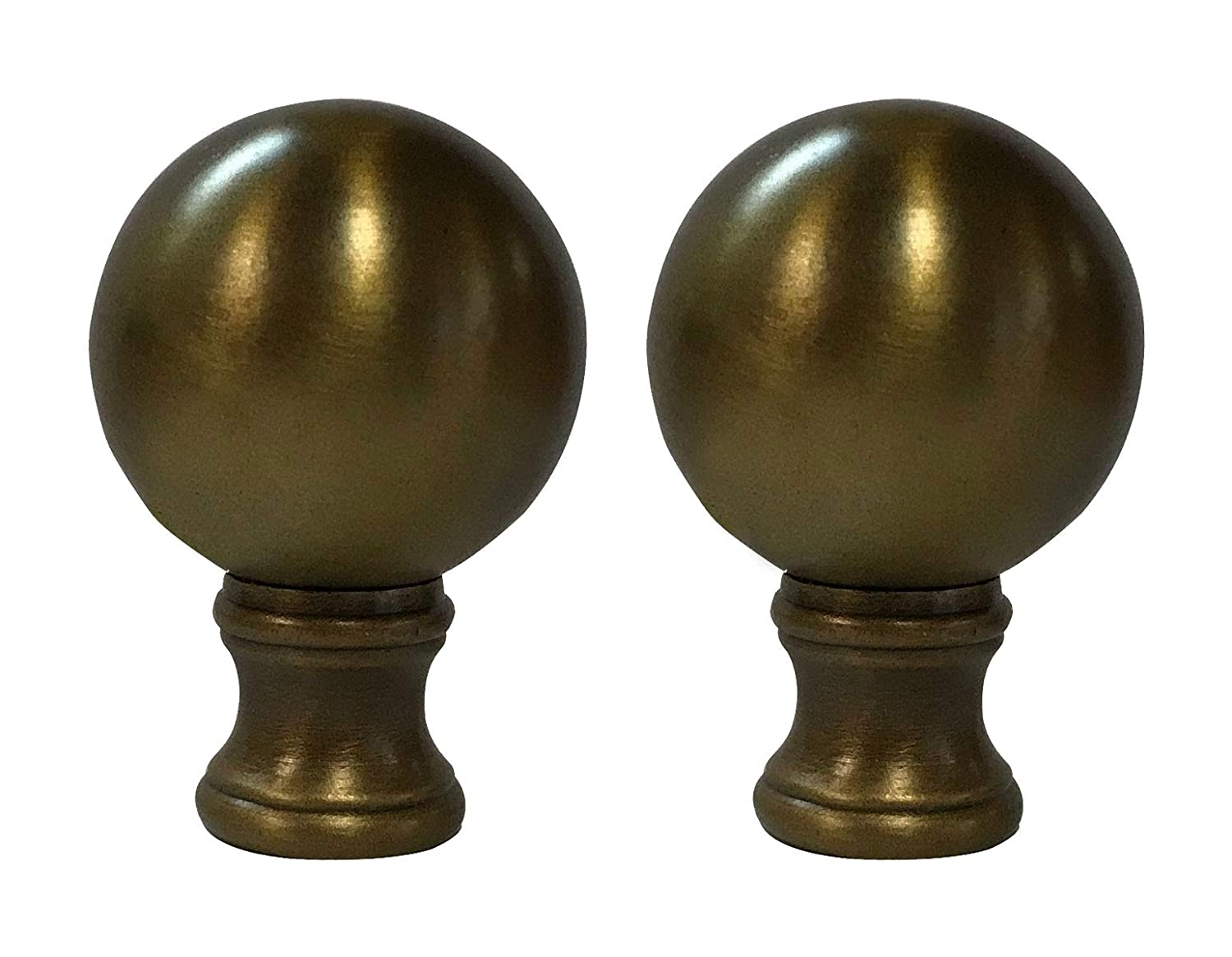 Machined Metal Lamp Finial **BALL DESIGN** Antique Brass finish Lamp Finial