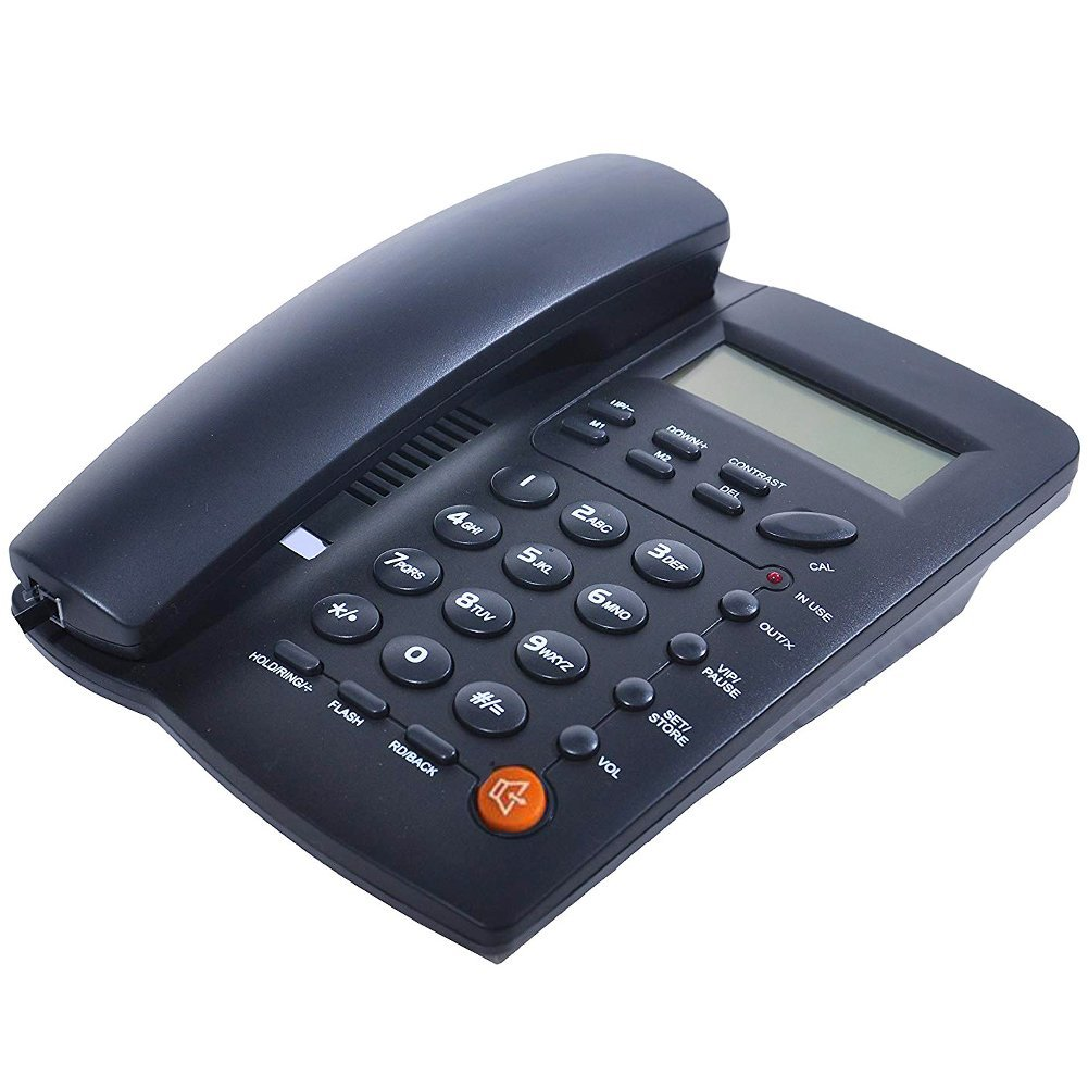 HePesTer P-Z32 Corded Phone with Caller ID Speakerphone Clock Calculator Speed Dial Function
