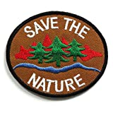 Peace002 - Save The Nature Patch - Peace Sign Patch - Logo Patches - Applique Embroidered patches - Iron on Patches - Backpack Patches - Peace Patch Size 8 X 7 Cm. by Asian 108 Markets