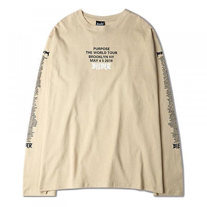 2c2ec9507 Youzee T Shirt Long Sleeve Hip-hop Mens Justin Bieber Fear of God Purpose  Tour: Amazon.ca: Clothing & Accessories
