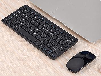 jiangu, teclado inalámbrico y ratón, Mini Teclado, ratón ...