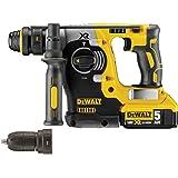 DeWalt DCH274P2-GB DCH274P2 18V XR li-ion SDS+ Rotary Hammer Drill with Quick Change Chuck (2 x 5AH Batteries), Yellow/Black