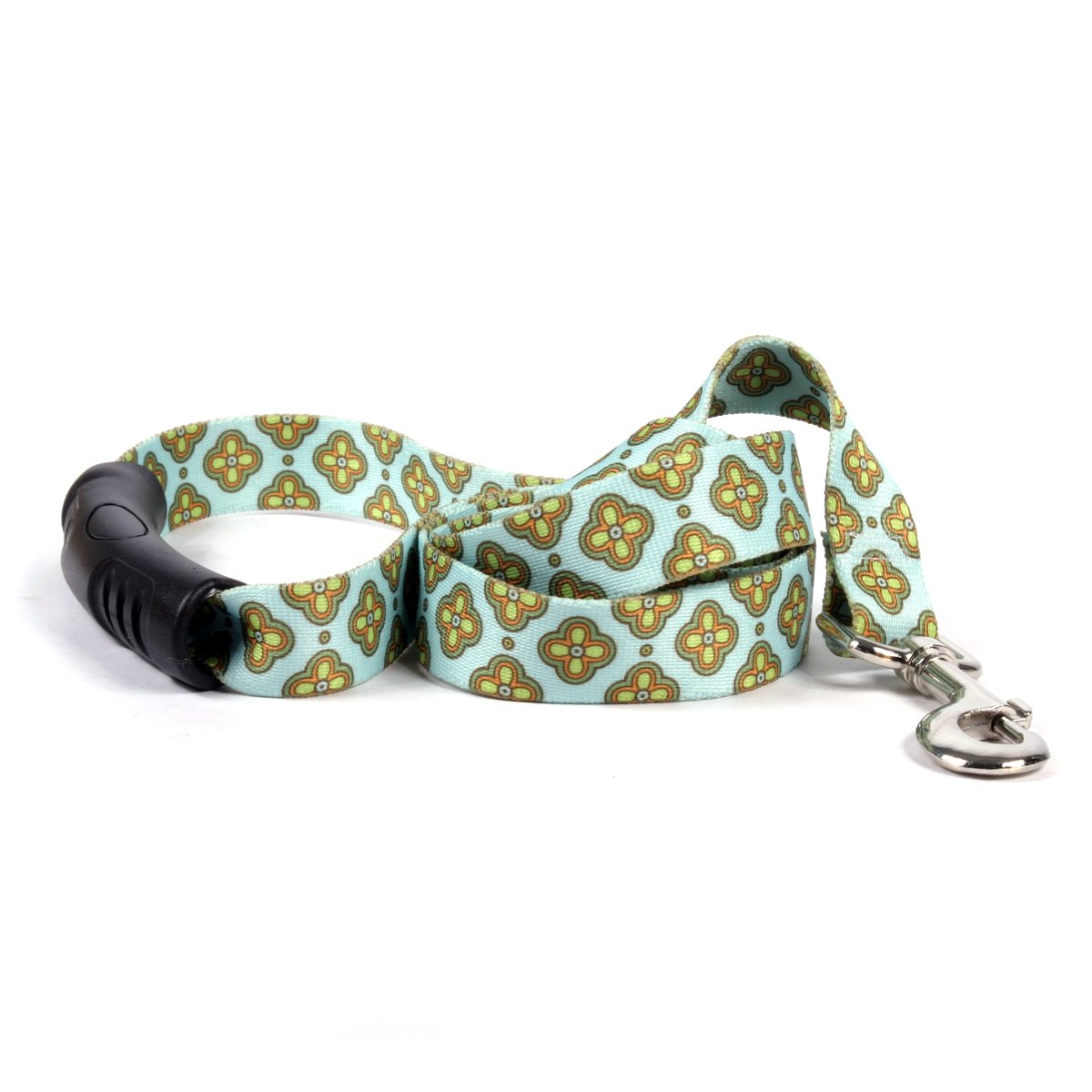 Yellow Dog Design Cleo Blue Ez-Grip Dog Leash with Comfort Handle 1'' Wide and 5' (60'') Long, Large
