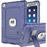 iPad 6th Generation Cases, iPad Case, iPad 9.7 Inch Case, Hybrid Shockproof Rugged Drop Protection Cover Built with…