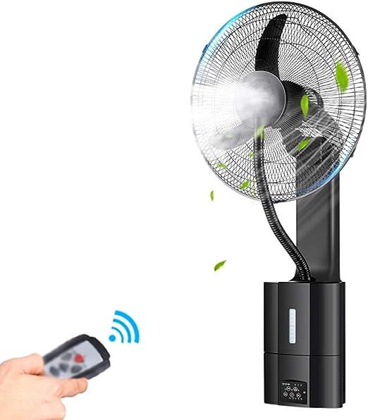 QFFL Ventilador de Pared - Control Remoto de Cabeza móvil ...