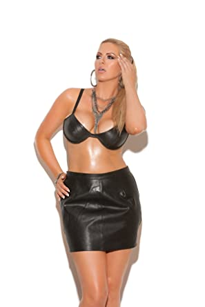 b61beb3f2b Amazon.com: Sexy Leather Spanking Mini Skirt- Q/s - Black: Adult ...