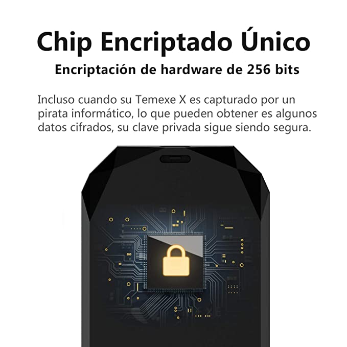TEMEXE X Cryptocurrency Hardware Wallet Bitcoin Ethereum Cold Wallet Protector de Clave privada