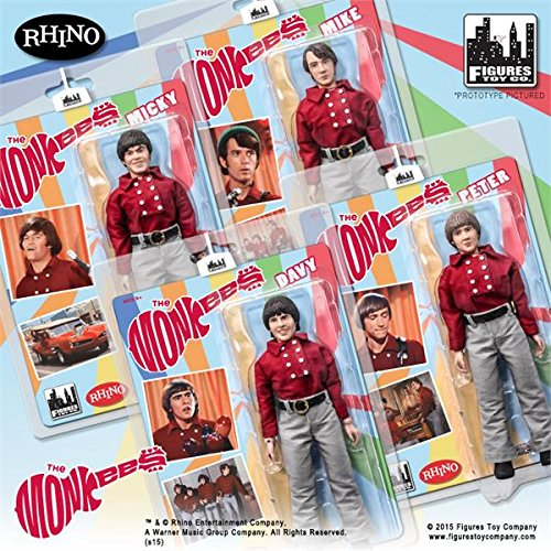 The Monkees; 8 inch action figures Series 1;Red Band Suits set of...