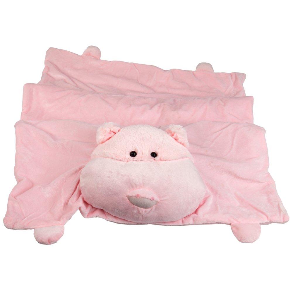 Animal World - Pig Children's Slumber Mat - Light Pink