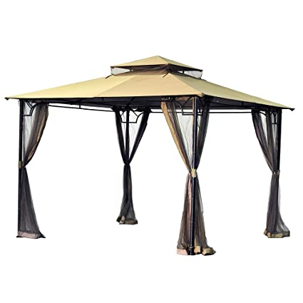 garden winds replacement canopy for the bamboo look gazebo 350 - Garden Winds Gazebo