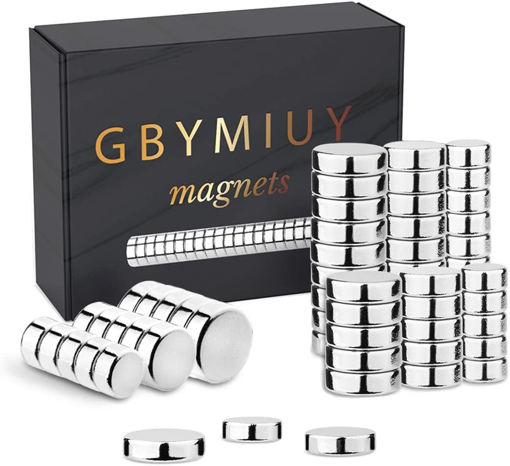 GBYMIUY Refrigerator Magnets, 3 Different Sizes Small Round Cylinder Fridge Magnets, Office Magnets, Whiteboard Magnets, 60PCS