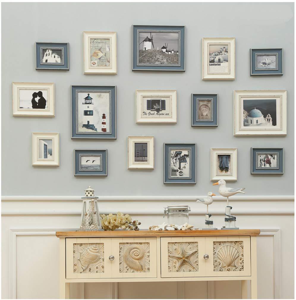 Fotorahmen Set, Vintage Bilderrahmen, Wanddekoration, 16 Fotorahmen ...