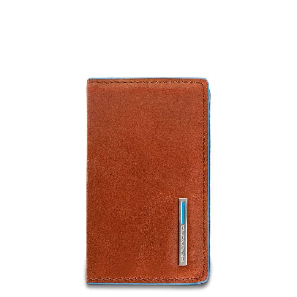 Piquadro Leather Business Card Holder, Orange, One Size