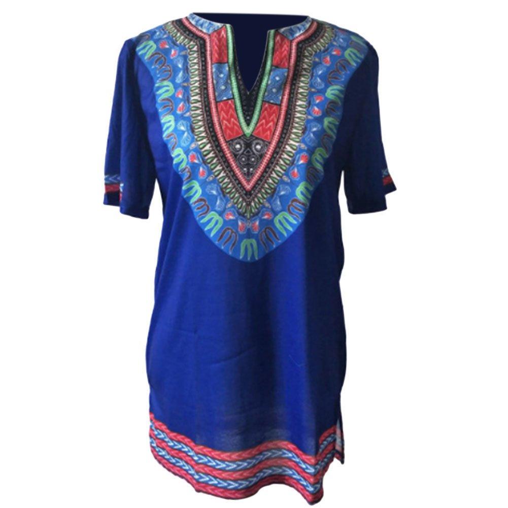 Meijunter Men Vintage African Style Tribal Shirt Printed Short Sleeves Dashiki Ltd.