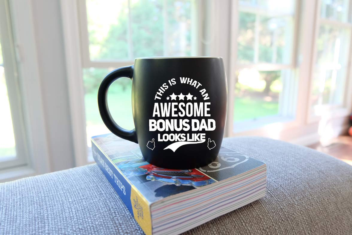 Fathers Day Gifts Awesome Bonus Dad Looks Like Best Step-Dad Ever Worlds Greatest Stepfather Gag Gift Stepdad Novelty Christmas or Birthday Ceramic Coffee Mug Tea Cup for Worlds Okayest Step Daddy