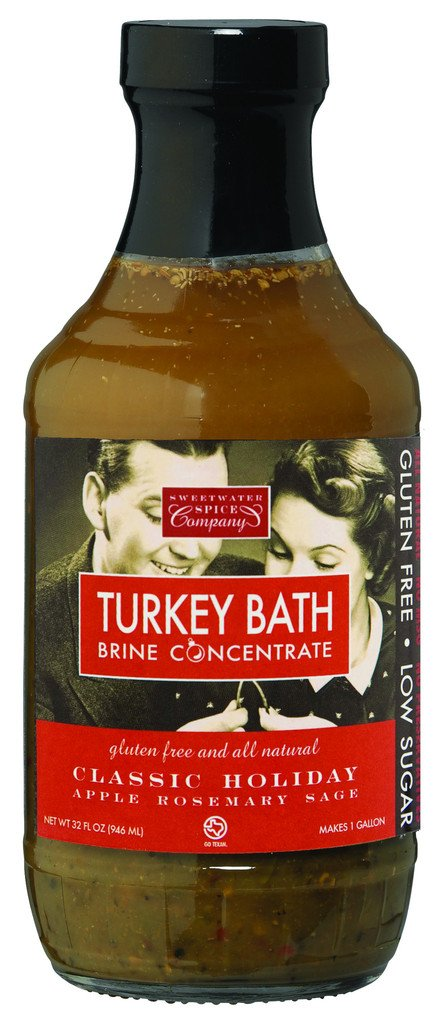 TURKEY BATH Classic Holiday (Apple Rosemary Sage) Brine Four Pack by Sweetwater Spice Co