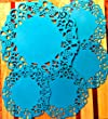 Silicone Lace Coasters from Dish It D'Lishious! Set of 5: 1 large/4 small-for Teapot & Cup Holders, Drink/Pitcher Placemat, Hot Pad, Jar Opener, Spoon Rest