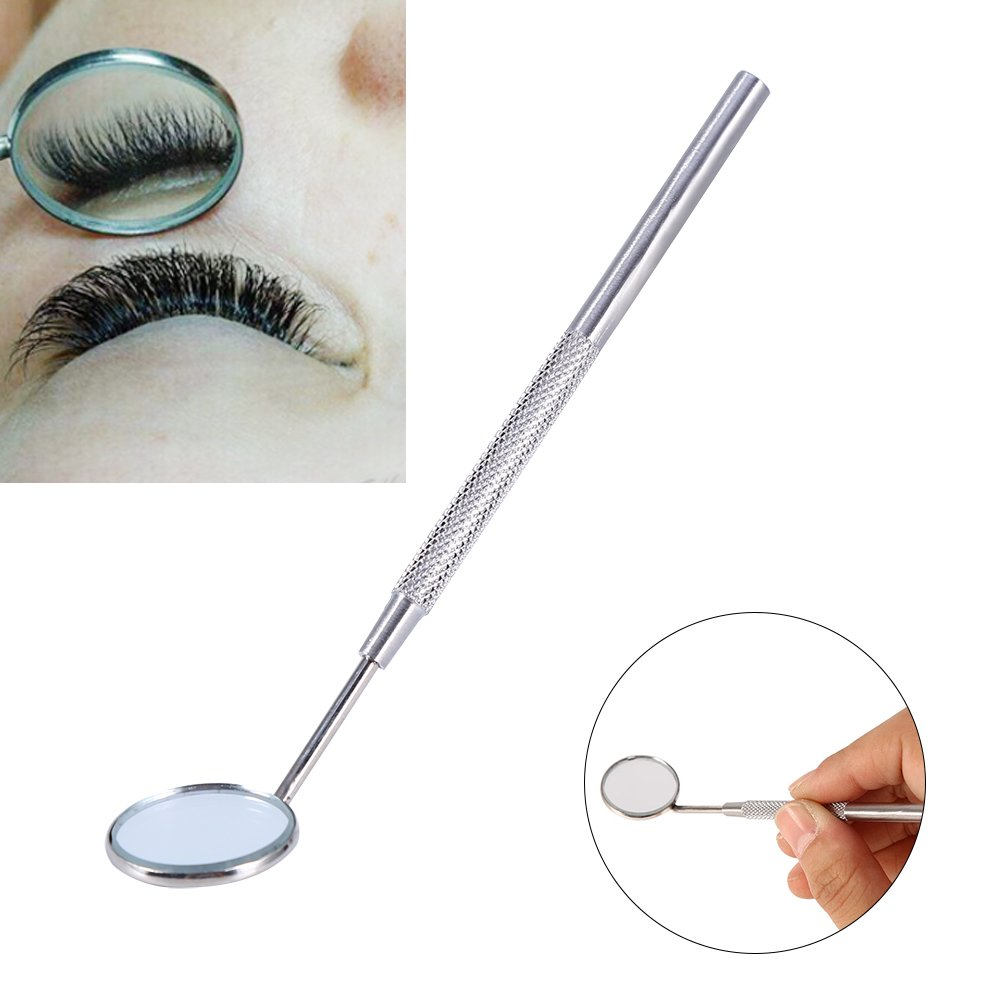 Delaman Stainless Steel Dental Mirror for Checking Eyelash Extension Applying Eyelash Tools CM-0284