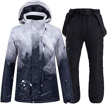 YJIU-ski suit Traje de Esquiar -30 Nueva Negro Juego de esquí ...