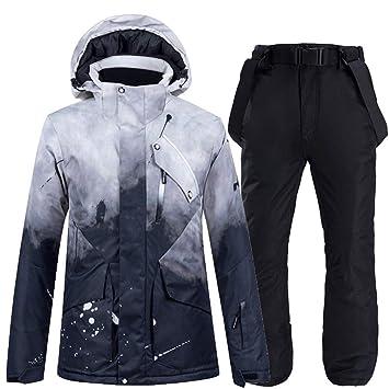 HUXIZ Ski Suit -30 Nueva Negro Juego de esquí Traje de Nieve ...