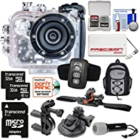 Intova HD2 Marine Grade HD Video Action Camera Camcorder with Video Light + (2x) 32GB Cards + Remote + Action Mounts + Backpack + Power Bank + LED Torch Kit
