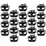 #10: Homyl Pack of 20 Pieces Retro Unisex Adults Midnight Black Masquerade Ball Mask Venetian Fancy Dress Party Eye Masks Carnival