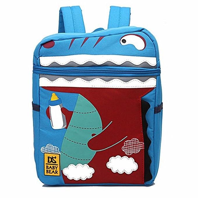 Crocodile Cartoon Kids Backpack for Children and Kindergarten Kids School  Bag, Blue 4a96a261b5