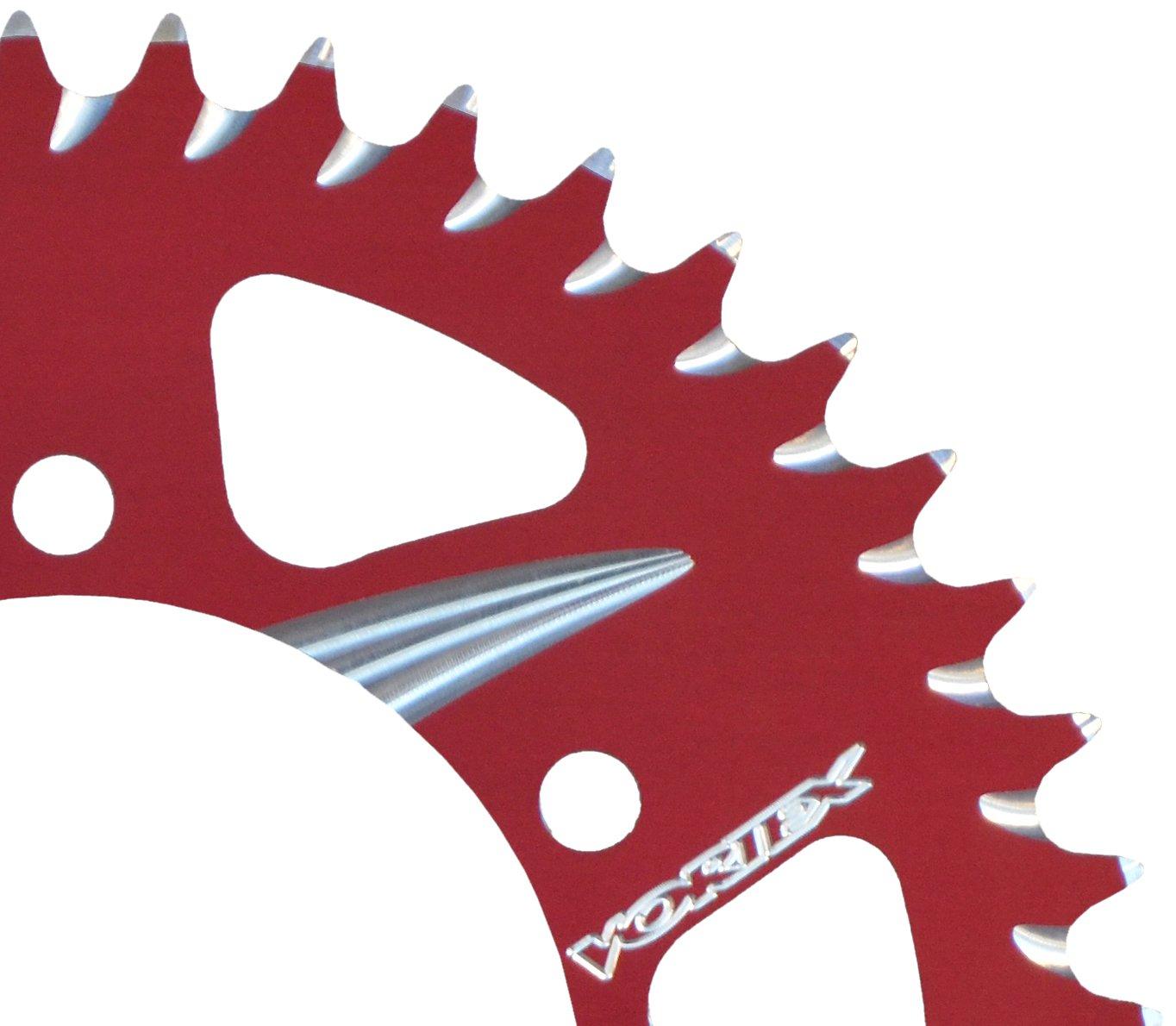 Red 48-Tooth 520-Pitch Rear Sprocket Vortex 225ZR-48