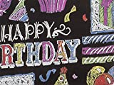 Pack Of 1, Chalkboard 24'' X 417' Roll Birthday Gift Wrap For 175 -200 Gifts Made In USA