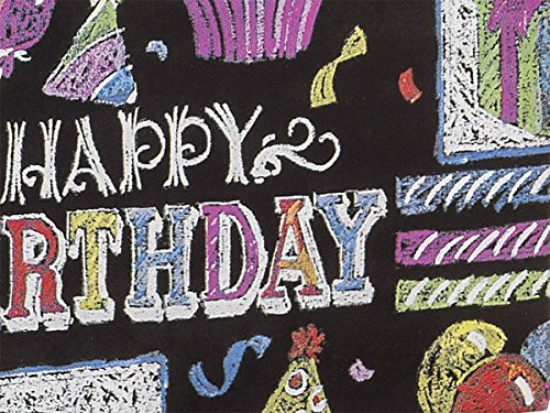 Pack Of 1, Chalkboard 24'' X 417' Roll Birthday Gift Wrap For 175 -200 Gifts Made In USA by Generic