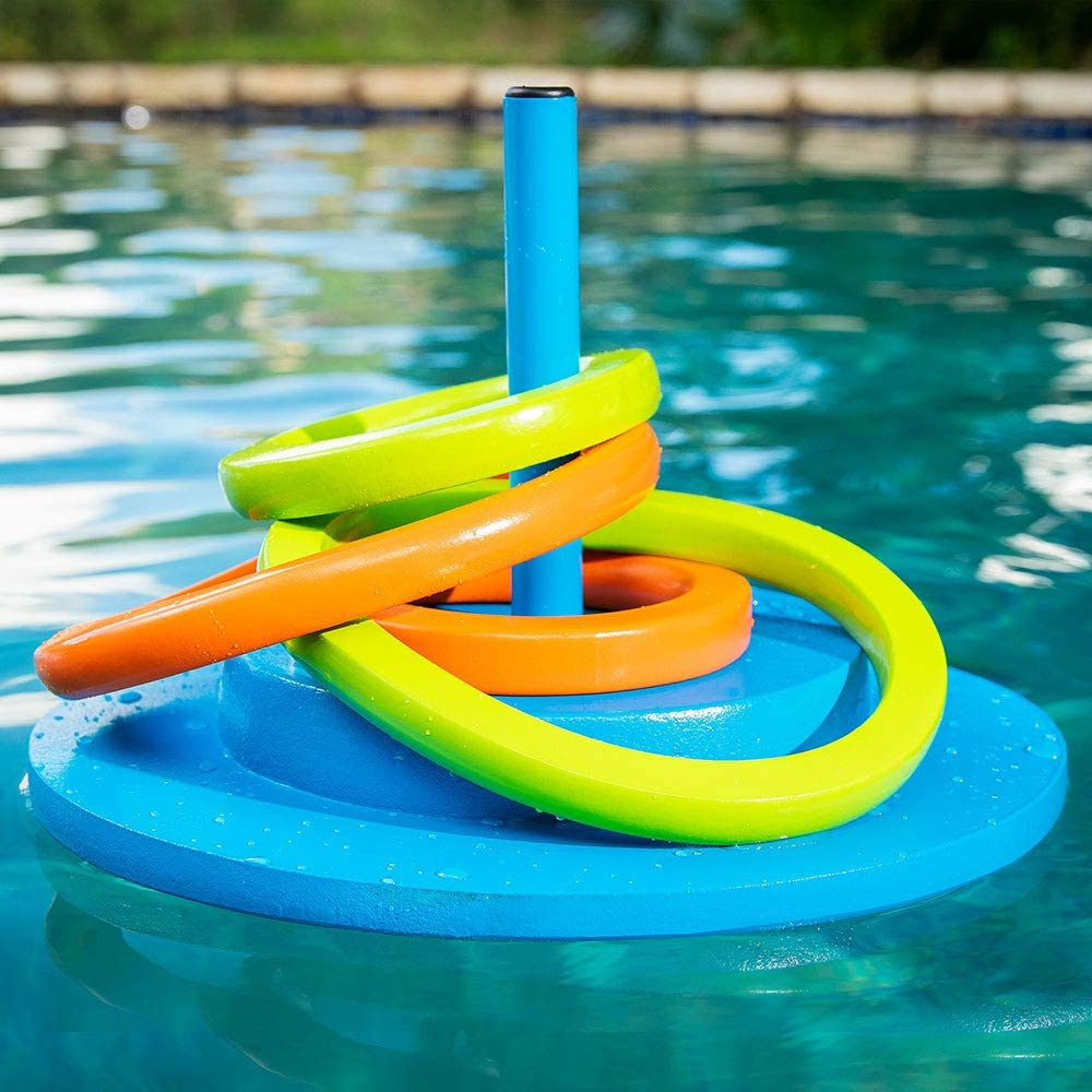 Caribbean Coral Texas Recreation Floating Foam Ring Toss Game for Swimming Pools