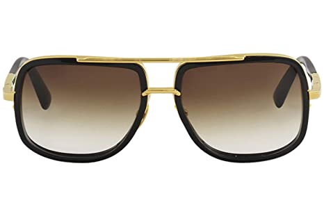 7fcc9d807cce3 Sunglasses Dita MACH ONE DRX 2030 B Shiny 18K Gold-Black w D.Brown to  ClearAR at Amazon Men s Clothing store